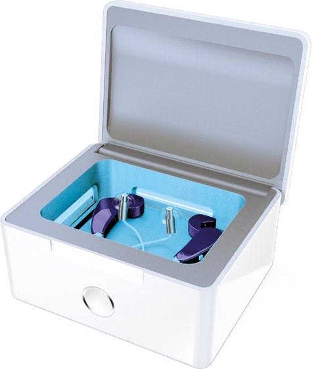 PerfectDry Lux   Hoortoestellen snel en optimaal laten drogen    Desinfecteren door middel van UV-C