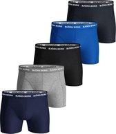 Björn Borg - Heren Onderbroeken 5-Pack Boxers Blue Mix - Blauw - Maat M