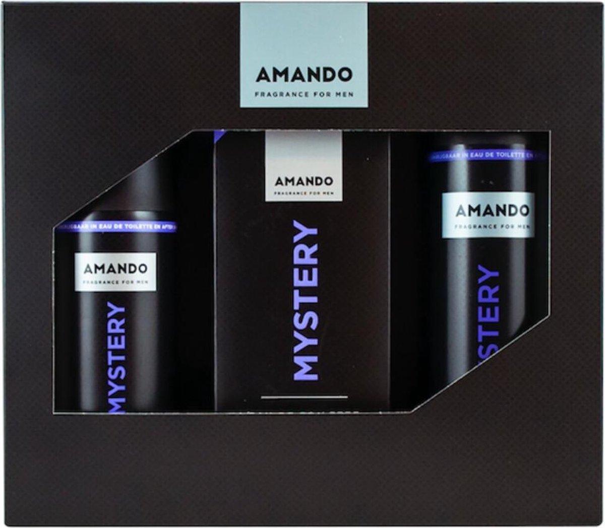 Amando Mystery EDT 50 ml geschenkset - 3 delig
