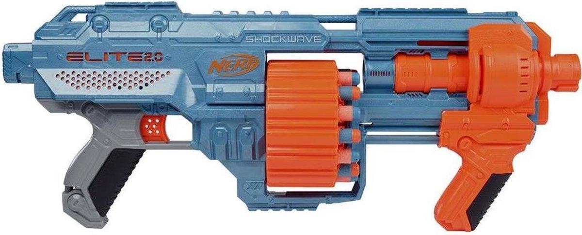 NERF blaster Elite 2.0 Shockwave RD 15 blauw/oranje 31 delig