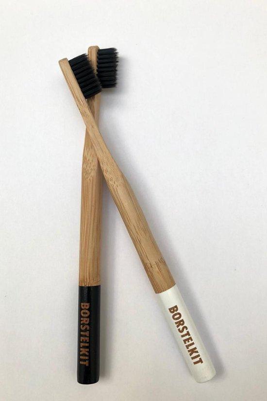 Zachte Bamboe Tandenborstel - Zero Waste - Vegan - Duurzaam - Tandpasta of Houtskool