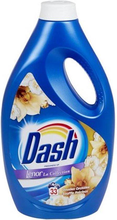 Dash Wasmiddel vloeibaar Lenor Gouden Orchidee 33 wasbeurten - 1,815 L