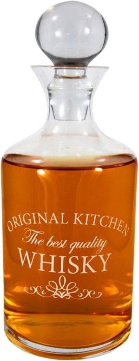 Orange85 Whisky - Karaf - Likeur - 1 Liter - Stijlvol - Design - Luchtdicht - Glas - Transparant kopen