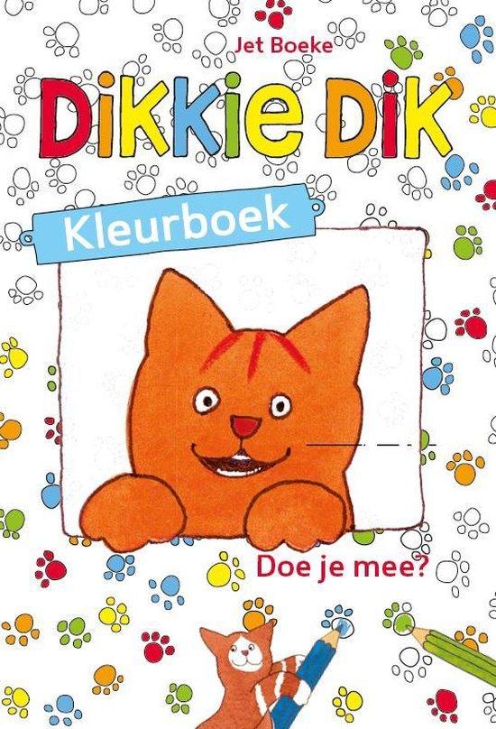 Boek cover Dikkie Dik - Kleurboek van Jet Boeke (Paperback)