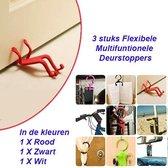 3 stuks Flexibele Multifuntionele Deurstoppers