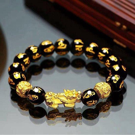 Feng Shui - Pixiu Black Obsidian Bracelet   WEALTH -