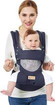 Especially Ergonomische Draagzak Baby - Multifunctionele Ademende Babydraagzak - Buik/Rug Babydrager in het Donker Grijs 1