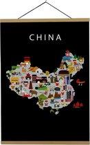 Kaart van China   B2 poster   50x70 cm   Maison Maps