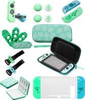 Nintendo Switch Accessoires voor Console & Controller – In thema van Animal Crossing New Horizons – Joy Con – Case – 11 IN 1 Set