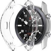Samsung Watch 3 45mm Screenprotector + Hoesje - Samsung Galaxy Watch 3 45mm Siliconen Case Transparant - Volledige 360 Graden Bescherming