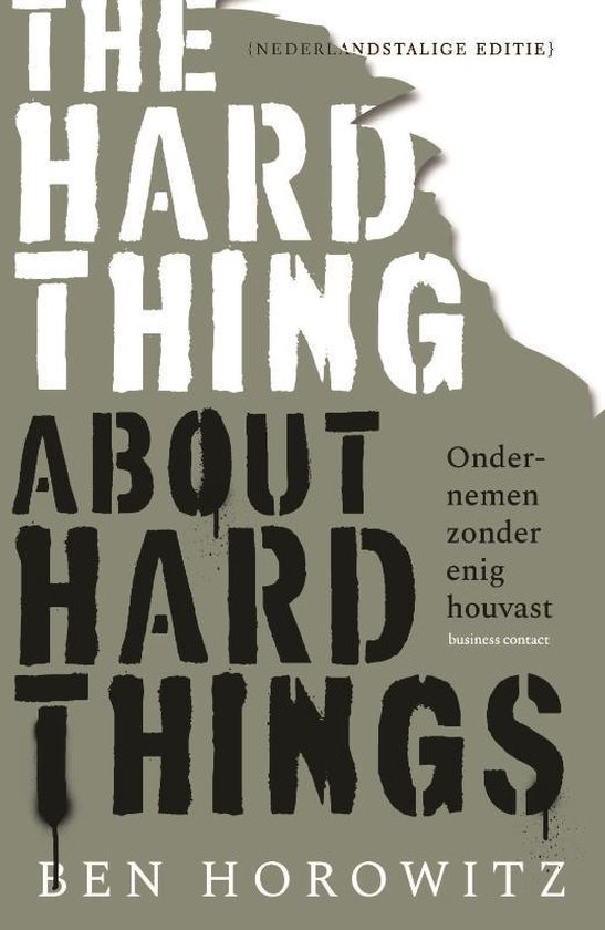 Boek cover The Hard Thing about Hard Things van Ben Horowitz (Paperback)