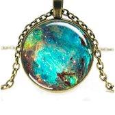 Semyco® Betoverende Universe ketting goud - Geleverd in luxe geschenkverpakking - Spiritueel cadeau - Cadeau voor vrouw - Romantisch - Vriendinnen - Liefdes - Vrouwen - Dames
