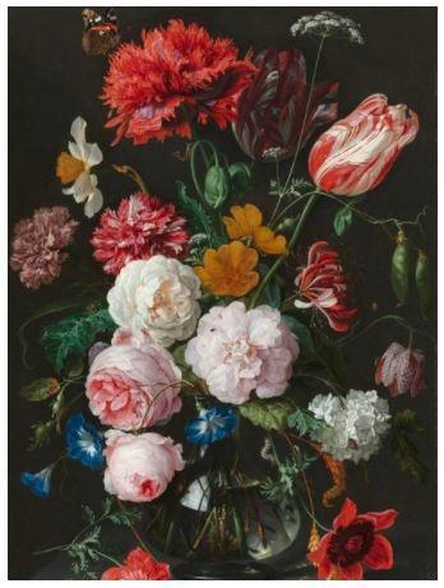 Diamond Painting 30 x 20 cm - bloemen - TA8535- vierkante steentjes pakket volledig - volwassenen - hobby creatief