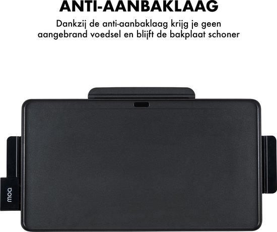 MOA TG203B Tafelgrill  - Grillplaat - Bakplaat - 56 x 30 cm