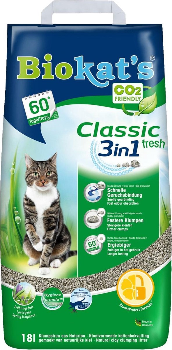 Biokat's Classic Fresh 3 In 1 - Kattenbakvulling - 18 L op De Prijzenvolger