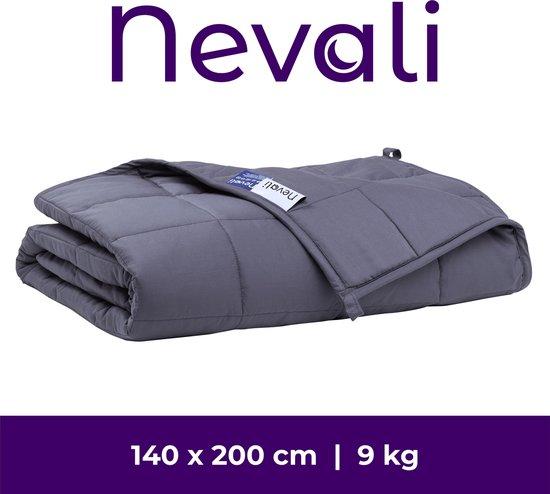 Nevali® Verzwaringsdeken 9 kg - 7-laags design - Verzwaarde Deken - Weighted Blanket - Zware Deken - Beter Slapen & Minder Stress - 140 x 200 cm