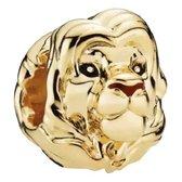 Zilveren Bedels Disney | Bedel Simba | Volwassen Goud | Lion King | 925 Sterling Zilver | Bedels Charms Beads | Past altijd op je Pandora armband | Direct snel leverbaar | Miss Charming