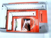 Werckmann Schrijfhaak / Winkelhaak - Aluminium - 2 stuks - 25 cm en 15 cm