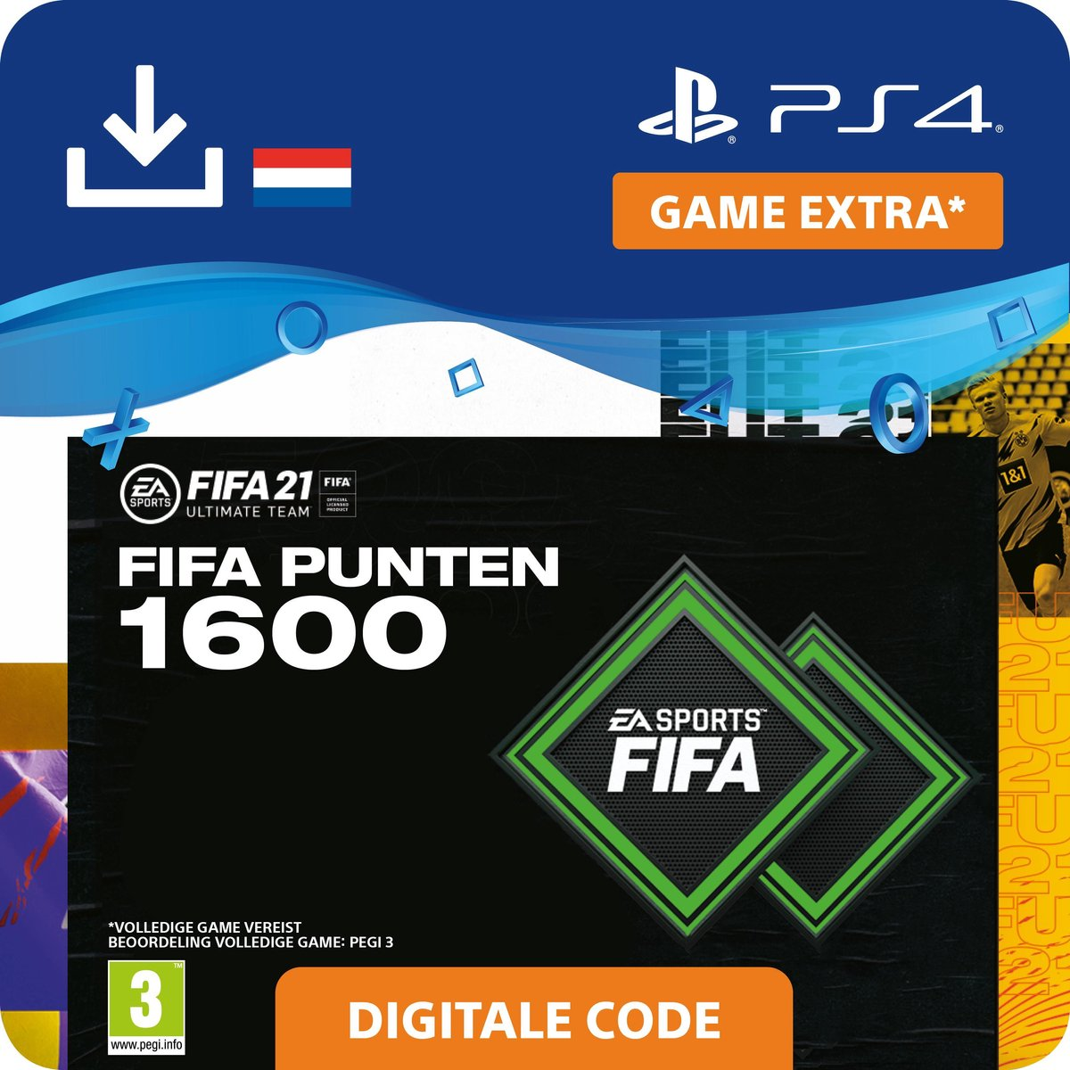 1.600 FUT Punten - FIFA 21 Ultimate Team - In-Game tegoed   PS4/PS5 Download - NL