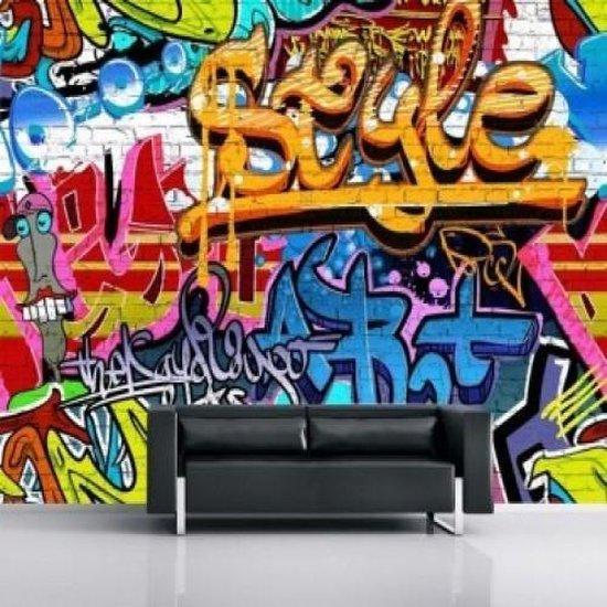 Fotobehang Graffiti 3.15mtr x 2.32mtr - Blauw
