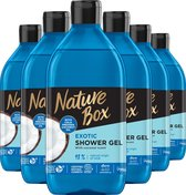 Nature Box Shower Gel Coconut Moisture &Freshness 6x 385 ml - Voordeelverpakking