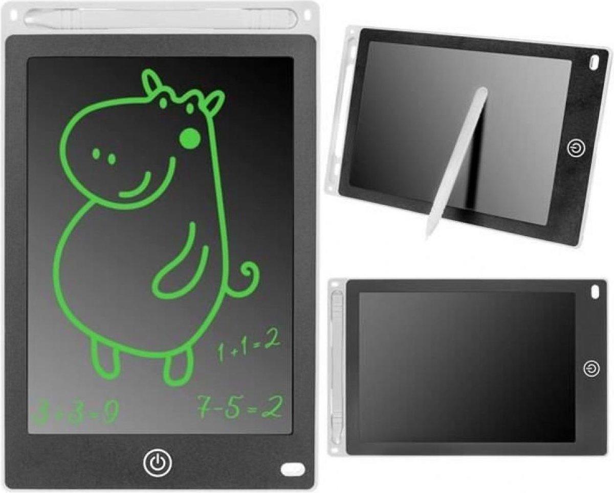 """Tekentablet voor kinderen - Wit - 8,5"""" - Notitieblok - Grafische tablet - Tekenbord kinderen - Tekentablet - LCD Tekentablet kinderen - Grafische tablet kinderen - Kindertablet Wit"""