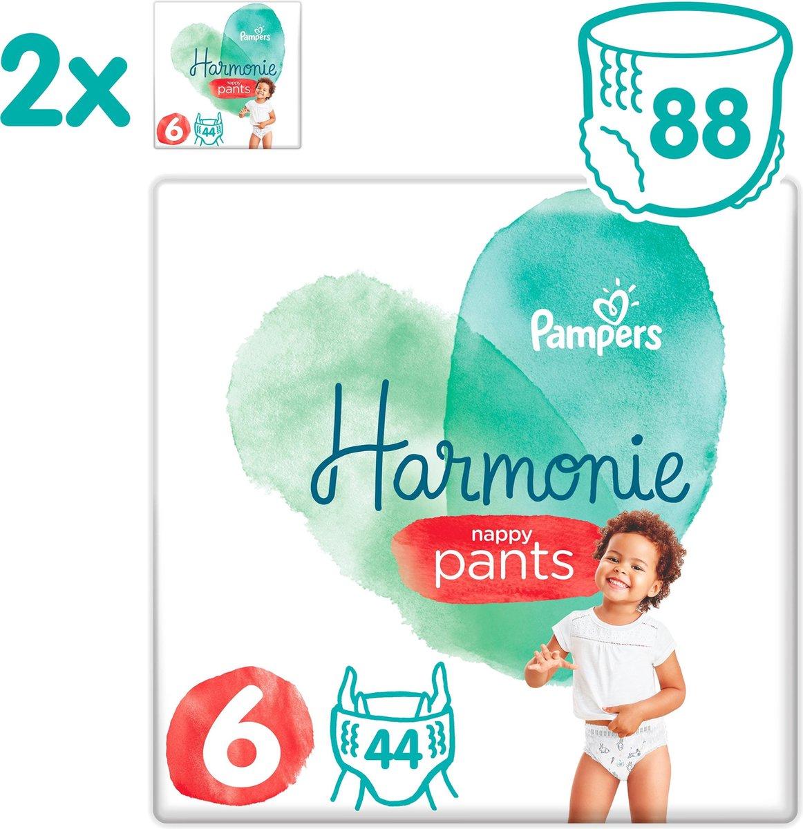 Pampers Harmonie / Pure Nappy Pants Maat 6 (15kg+) 88 Luierbroekjes