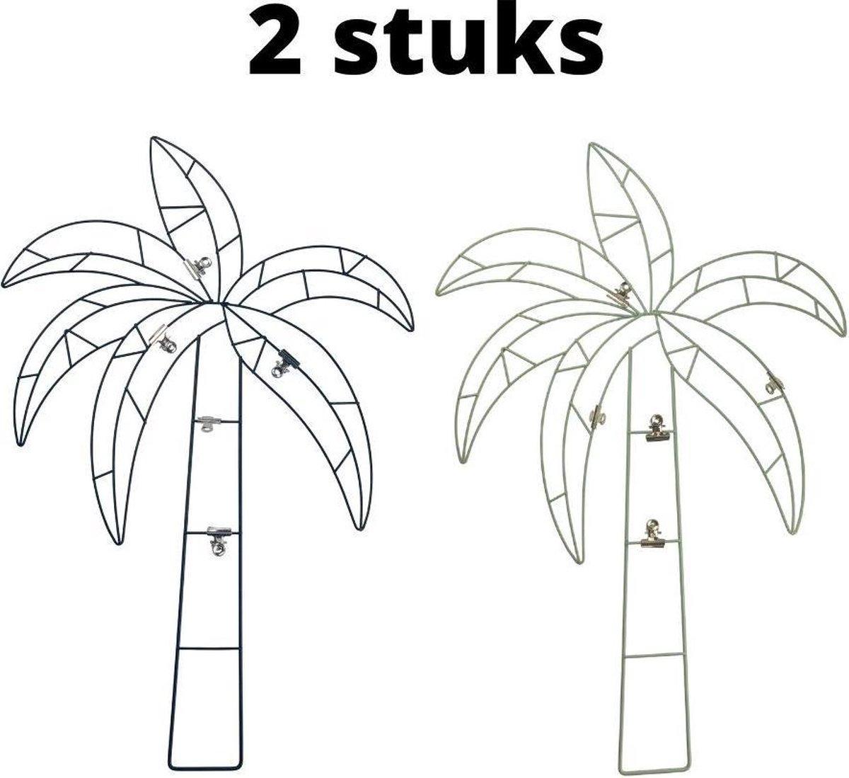Orange85 Memobord Decoratief Palm Metaal Set 2 stuks Kinderkamer Clips Zwart Goud online kopen
