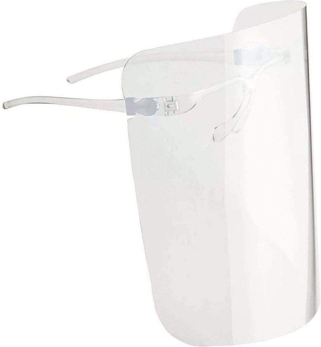 Spatmasker met Brilmontuur - 5 Stuks - Gezichtscherm - Face shield - Spatmasker voor brildragers