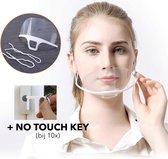 Mondkapje -Herbruikbare - Transparant - Medisch - Mondmasker - Mondkapjes - Elastiek - Mondkapjes - HERBRUIKBAAR - Hygiënisch - Hygiëne - Face Mask