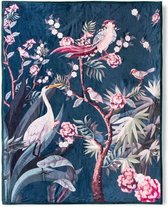 Heerlijk Zachte En Trendy Plaid Kraanvogel Petrol | 130x160 | Multifunctioneel (Decoratie, Woondeken Of Sprei) | Teddy Stof