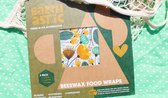 Earthastic Beeswax Reusable Food Wraps | Herbruikbare Bijenwas Doekjes | 3-pack S-M-L | Made in Australia from 100% natural ingredients | Plastic-alternative food wraps | 100% bio-degradable, natural, and eco-friendly