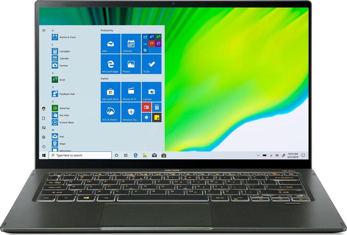 Acer Swift 5 SF514-55T-583V Notebook 35,6 cm (14) 1920 x 1080 Pixels Touchscreen Intel® 11de generatie Core™ i5 16 GB LPDDR4x-SDRAM 512 GB SSD Wi-Fi 6 (802.11ax) Windows 10 Home Groen
