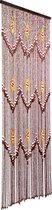 Vliegengordijn/deurgordijn houten kralen - Brasil 90x200cm