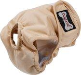 Loopsheidbroekje - Beige - Maat XS - Hondenbroekje - luier voor teef - loopsheid - ongesteldheid - wasbaar