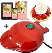 Mini Wafelijzer en Chaffle Maker van FOOTRICION™ - Incl. digi wafel kookboek - Bekend van Laag Koolhydraat Tiktok