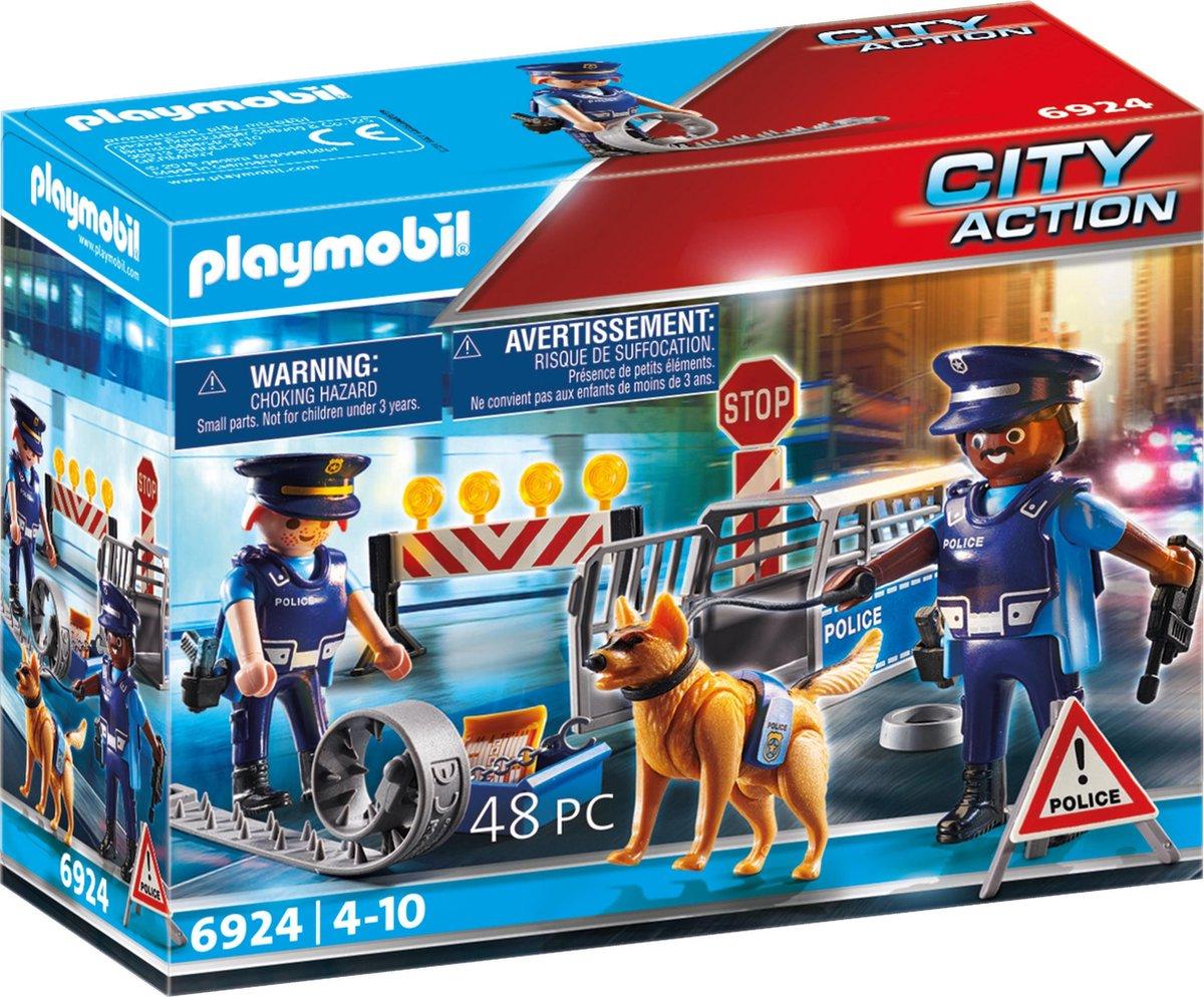 PLAYMOBIL City Action Politiewegversperring - 6924 - PLAYMOBIL
