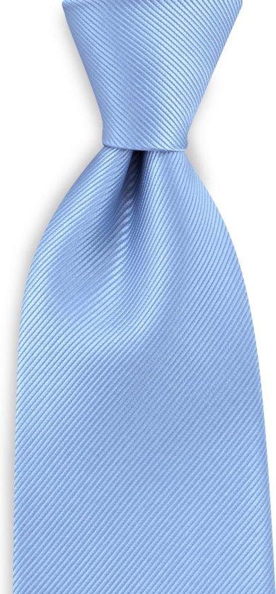 We Love Ties - Stropdas repp lichtblauw - geweven zuiver zijde