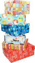 5x Sinterklaas inpakpapier  - cadeaupapier / kadopapier - Multi