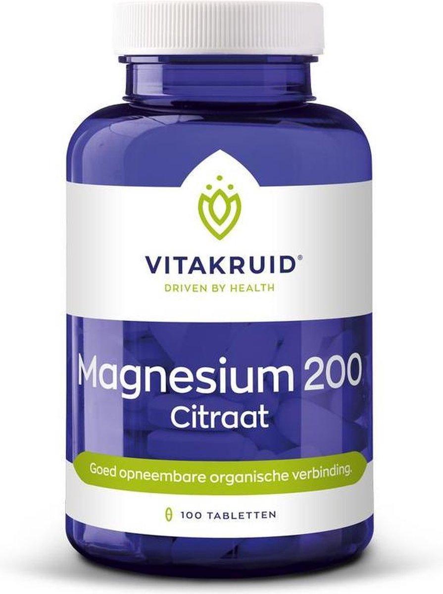 Vitakruid Magnesium 200 Citraat 100 tabletten