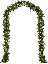Casaria Guirlande Kerstkrans 5m met 80 LED's incl. decoratie voor binnen & buiten