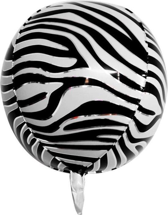 Grote folieballon met zebra/dieren print (22 inch)