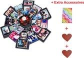 HBKS Lovegoods Explosie Foto Doos - Explosion Fotobox - Album - Fotolijst - Liefdes Cadeau - Valentijnsdag – Zwart