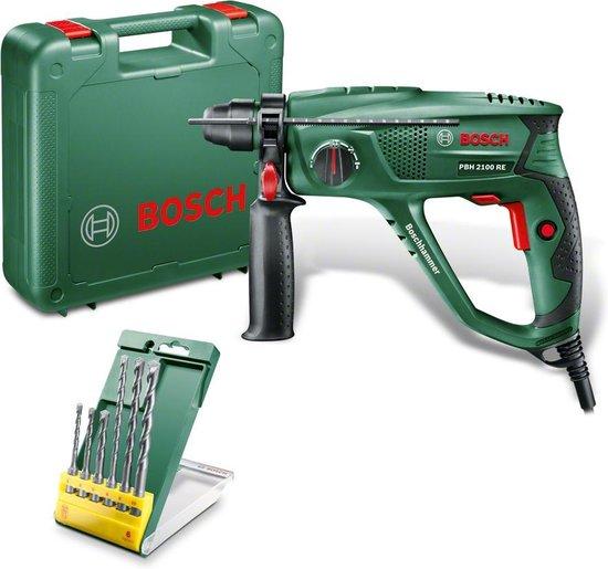 Bosch PBH 2100 RE Boorhamer - 550W - 1.7 J - Incl. extra 6-delige SDS Plus S2 borenset