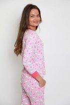 Damespyjama set voor volwassenen van katoen - Leuke Cupcake prints- Maat XL
