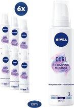NIVEA Curl Plumping Mousse - Haarmousse - 6 x 150 ml - Voordeelverpakking