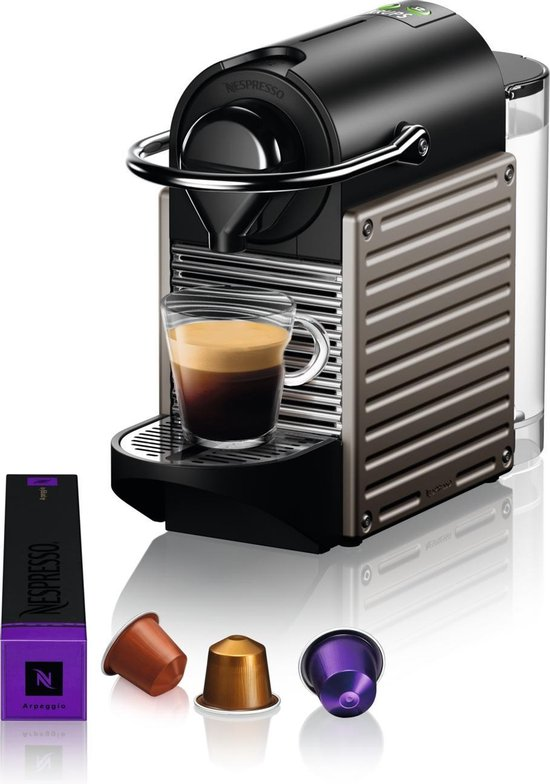 Krups Nespresso Pixie XN304T - Koffiecupmachine - Titanium