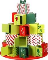 Adventskalender Rond, Houten Kerstkalender, Kerst, Advent