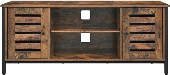 Nancy's Jefferson Tv Meubel - Tv-kast - Tv Lowboard - Tv-tafel - Tv Meubels - Vintage - Bruin - Metaal - 110 x 40 x 50