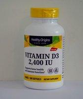 Vitamine D3 2400 IE (360 Softgels) - Healthy Origins